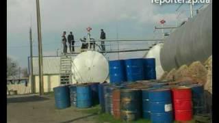 Подпольное производство бензина в Запорожье.mpg