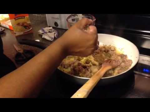 Southern Comfort Frugal Meal:  Bean and Rice with Cheddar Cornbread