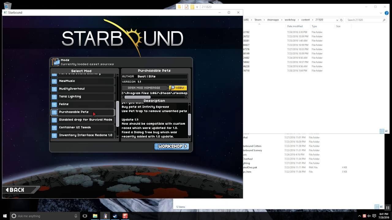 Starbound - Steam Workshop Mods on Servers