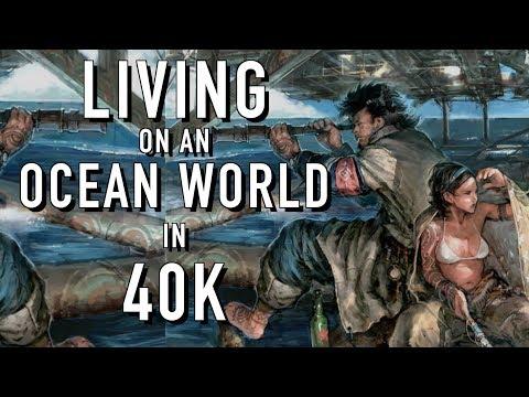 Imperial Citizens on an Ocean World Warhammer 40K