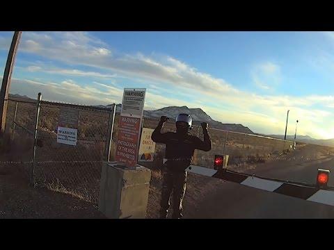 Area 51 Back Gate Crossed Twice by Bikers - FindingUFO