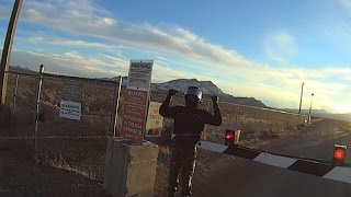 Area 51 Front Gate Crossed Twice by Bikers - FindingUFO