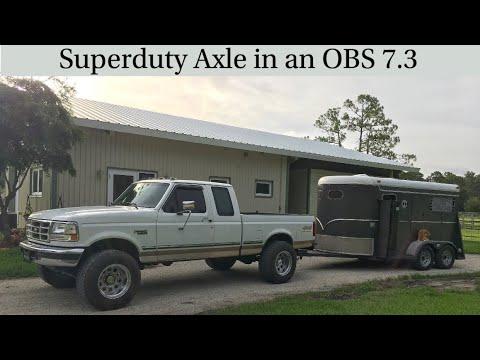 97 f250 super duty axle swap