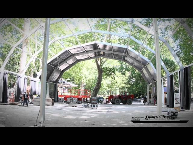Cabaret Frappé 2012 - montage du chapiteau