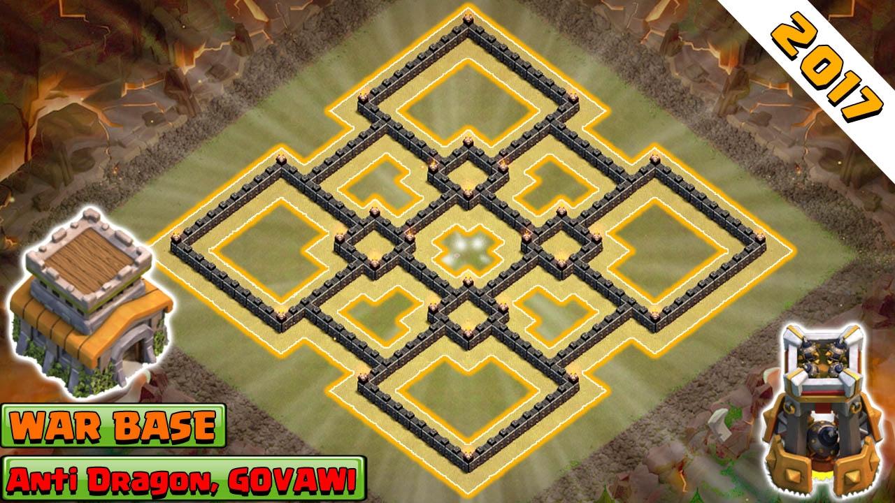 Coc Th 8 War Base Anti 3 Star 10