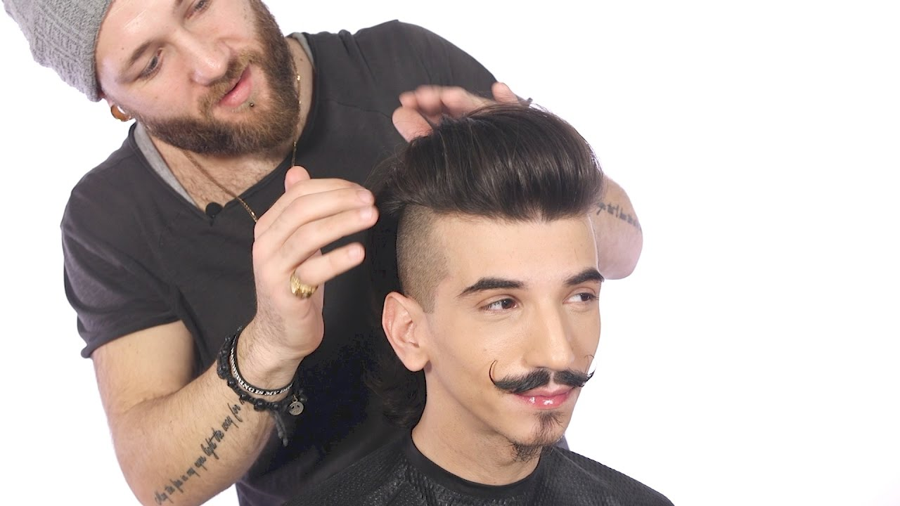 Undercut Pomp With Feather Design TheSalonGuy YouTube - Undercut hairstyle explained