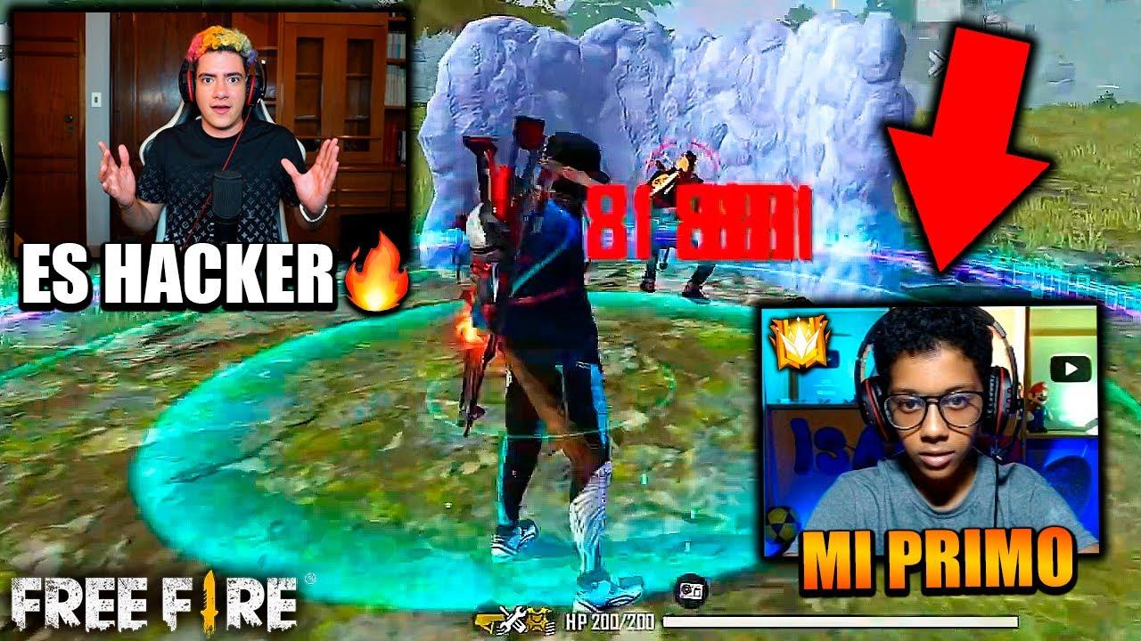 REACCIONANDO A MI PRIMO ISAAC JUGANDO FREE FIRE EN PC Y PARECE HACKER !! *increible*  | TheDonato