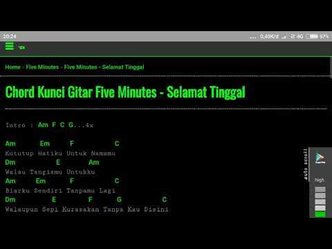 chord five minutes - selamat tinggal