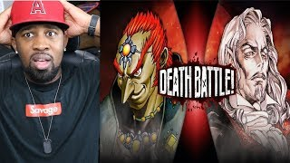Ganondorf VS Dracula Zelda VS Castlevania [DEATH BATTLE] - REACTION