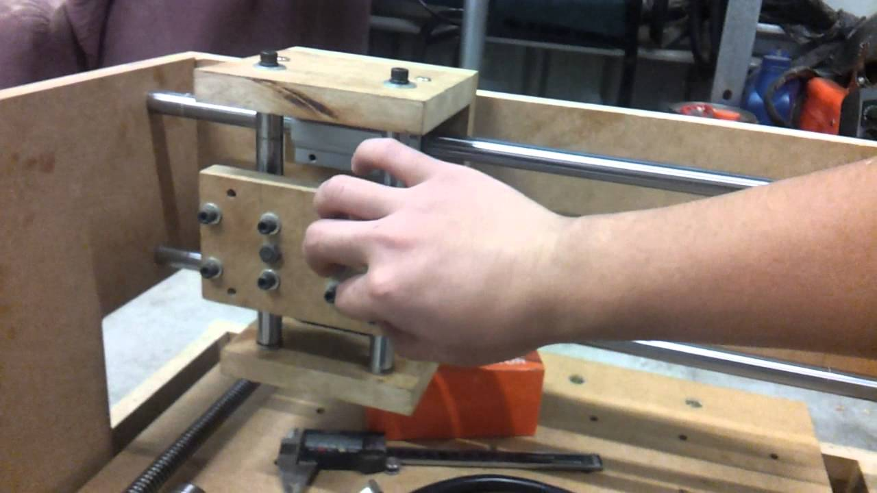Homemade mdf cnc router table linear test youtube greentooth Choice Image