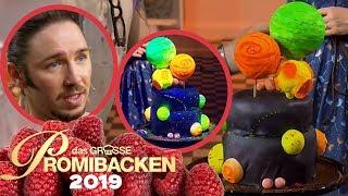 Im Dunkeln leuchtender Kuchen: Galaxy Cake 2/2 | Aufgabe | Das große Promibacken 2019 | SAT.1 TV