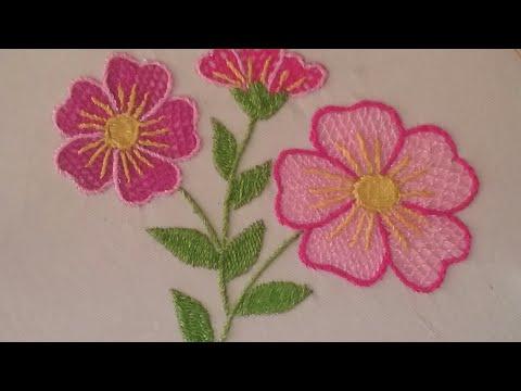 Bordado flores del campo