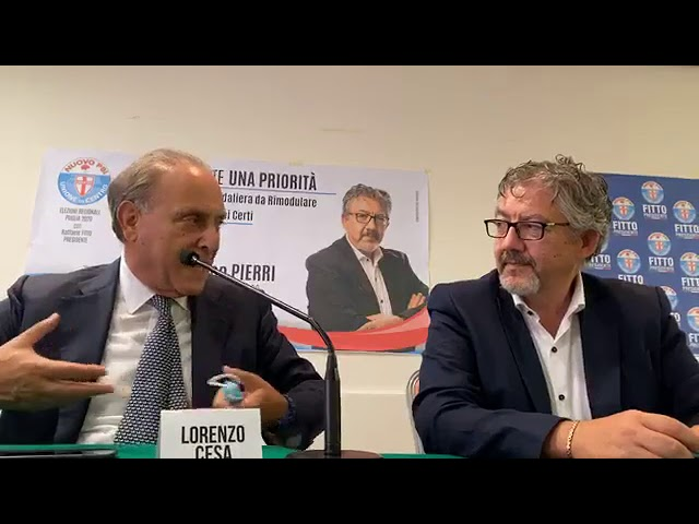 #ElezioniRegionali2020 Francesco Pierri a Martina Franca con l'on Lorenzo Cesa
