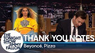 Thank You Notes: Beyoncé, Pizza