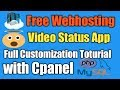 Vidoe Status app free webhosting cpanel | Video Status Source Code Android Studio