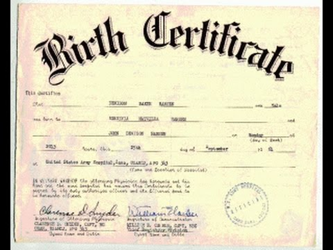 Birth Certificate Who Owns Title  Youtube