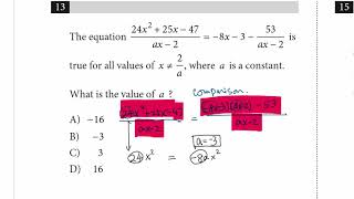 SAT Math : College board Book Test 3 section 3 #13  How to attack the question?
