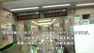 安中榛名駅に新幹線が上下19本ずつ停車するようになった件 20191014