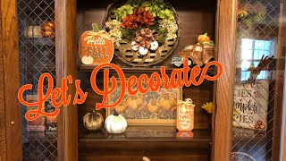Fall Diy | Decorate My Hutch For Fall With Me 2019