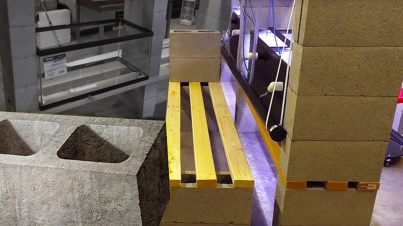 How to Build a Fish Room DIY Aquarium Stand Rack  Cinder Block Stand