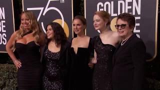 Natalie Portman, Emma Stone and Mariah Carey Golden Globe Awards Fashion Arrivals (2018)