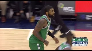Kyrie Irving Hits Back To Back Clutch Threes for C's in OT, Gets MVP Chants in DC