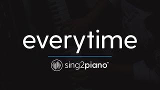 Everytime (Piano Karaoke Instrumental) Ariana Grande