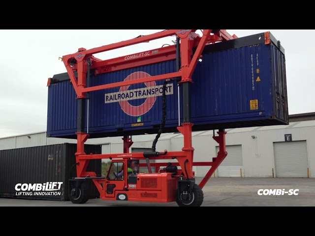 COMBi- SC: Straddle Carrier double stacking containers - effective solution for handling containers.
