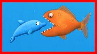Приключение ГОЛОДНОЙ РЫБЫ #15 ГОЛОДНЫЙ ДЕЛЬФИН Веселая игра как мультик для детей от ДЕТСКИЕ ИГРЫ