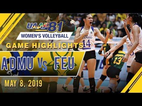 UAAP 81 WV Final Four: ADMU vs. FEU | Game Highlights | May 8, 2019