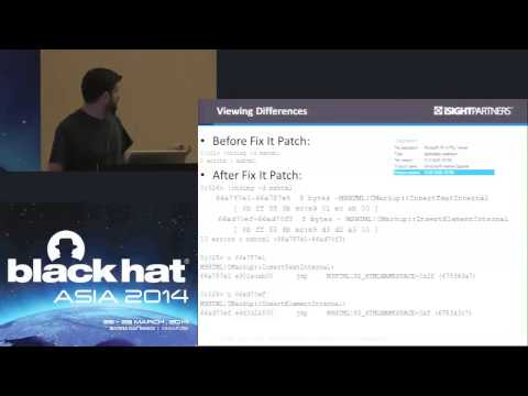 Black Hat Asia 2014 - Persist It: Using and Abusing Microsoft's Fix It Patches
