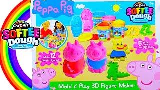 Peppa Pig Softee Dough Mold n Play 3d Figure Maker - Kids' Toys