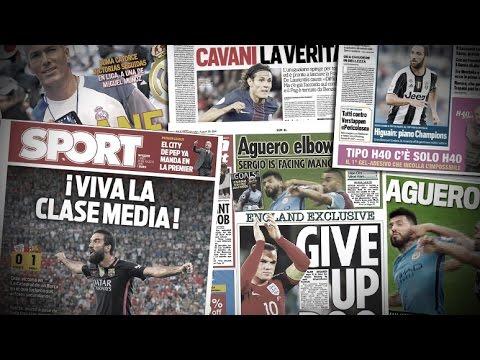 Agüero, Zidane, Rooney et Cavani | Revue de presse