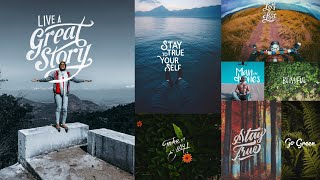 Gambar cover How to Create Typography Photo | Editing tutorial for mobile Lightroom and Over App