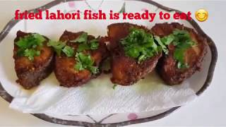 Lahori fried fish ## crispy fried fish ## easy fried fish