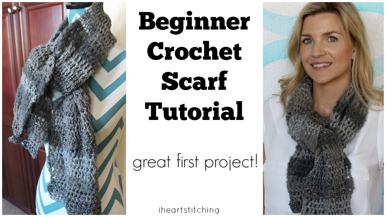 Beginner Crochet Scarf Tutorial - Great FIRST Project! - YouTube
