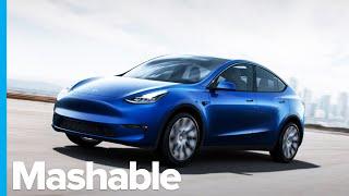 Elon Musk Unveils Tesla's Model Y