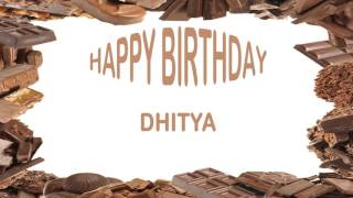 Dhitya   Birthday Postcards & Postales