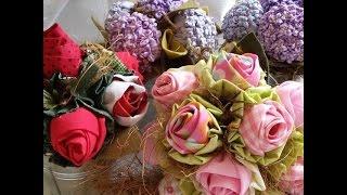 Flores de tecido – Passo a passo