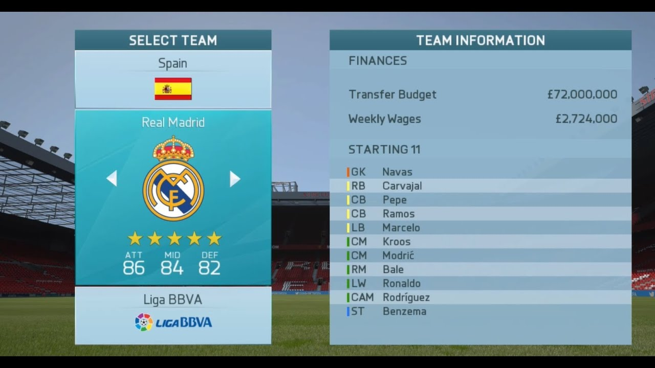 fifa 16 top 20 clubs with highest transfer budget career mode