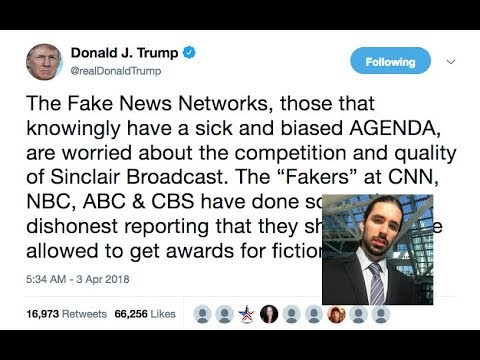 Trump Responds To Sinclair Broadcasting Script For Stations Viral Video In A Tweet!