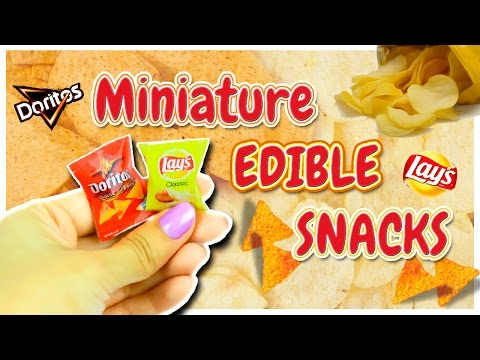 Edible Miniature Snacks ~ Dollhouse Food DIY ~ Mini Doritos & Lays