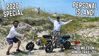 IKE GOT AN ISLAND!! Riding 400 Miles on ABANDONED Honda Mini Bikes to FIND IT! [Feature Length]