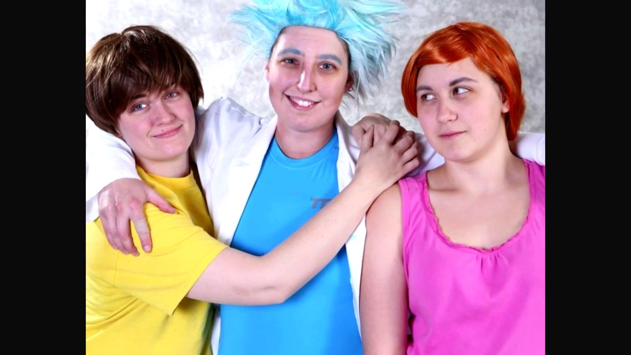cosplay Rick female morty and