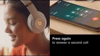 How to answer and switch calls on Beats Studio3 Wireless | b button