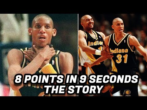 The Story Behind Reggie Miller's 8 Points in 9 Seconds! Greatest NBA Comeback?