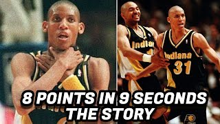 The Story Behind Reggie Miller's 8 Points in 9 Seconds! Greatest NBA Comeback? thumbnail