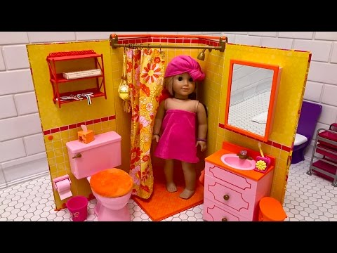 American Girl Doll Julie's Bathroom Unboxing - NEW!