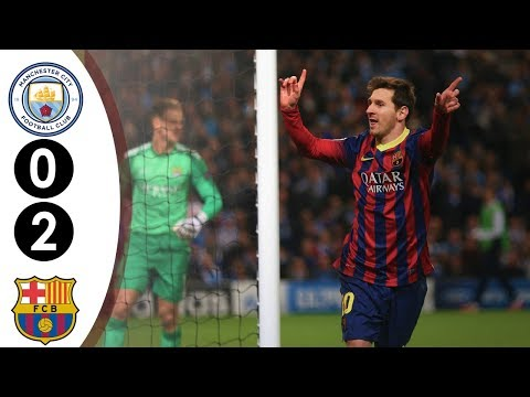 Manchester City vs Barcelona UCL 0-2 2013/2014 Full Highlights HD