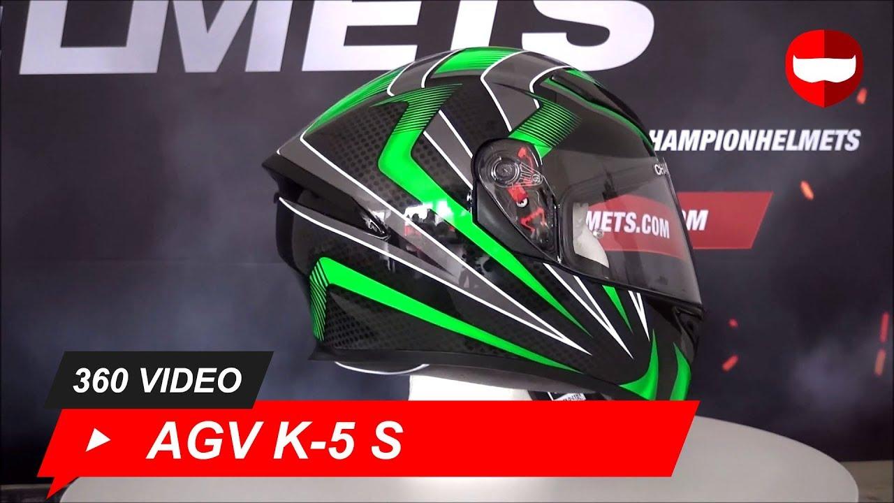 S AGV Casco Moto K-5/S E2205/Multi plk Hurricane Black//Gun//White